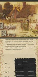 Foxglove Cottage Utility Quilting Needle Sampler Needles (4)