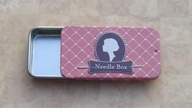Vintage Needle Box Rose Pink