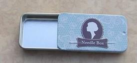 Vintage Needle Box Blue Suave Lace