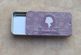 Vintage Needle Box Violet Delight