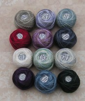 Rosewood M Winter Quakers Valdani 3  Strand Thread Pack