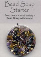 BDST33 Bead Soup Starter Rum Raisin (shades of amber/violet/black)