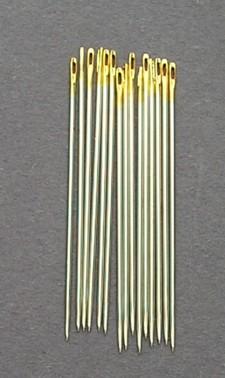 Bulk Premium Gold Eye Brazilian Milliner Needles size 1 (15)