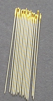 Bulk Premium Gold Eye Brazilian Milliner Needles size 3 (15)