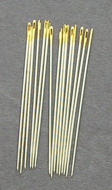 Bulk Premium Gold Eye Brazilian Milliner Needles size 5 (15)