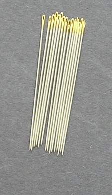 Bulk Premium Gold Eye Brazilian Milliner Needles size 7 (15)