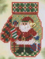 Mill Hill Treasured Charmed Mitten Santa's Night