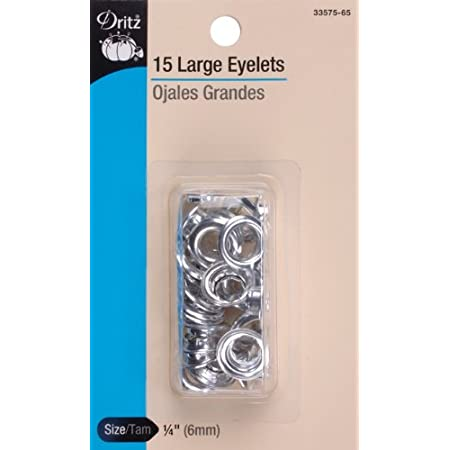 Dritz Large Silver Eyelets