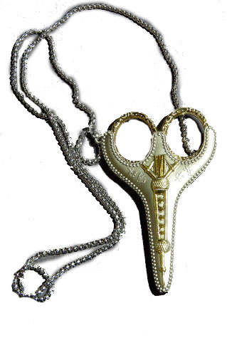 Little Stitches Heirloom Pendant Scissors Gold