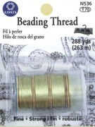 Coats and Clark N536 Beading Thread 4 pack