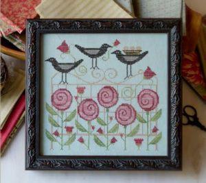 Plum Street Trellis Blackbirds Speciality Thread Pack