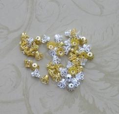 Bead Flower Caps (100)