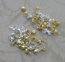 Bead tips and bead flower caps (100)
