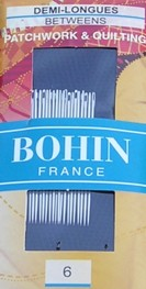 Bohin 0316 Between / Quilting Needles Size 6 (20 needles)