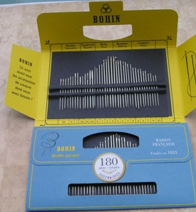 Bohin 180th Anniversary Needle Collection Light Blue (40 needles)