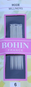 Bohin 0616  Milliners/Straw  size 6 (15 needles)