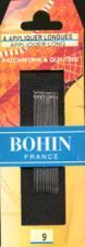 Bohin 00623  Applique Long / Beading Needles Size 9 (15 needles)