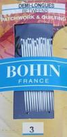 Bohin 0310  Between / Quilting Needles Size 3 (20 needles)