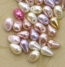 Mixed Tear Drop and Vertical Drop Beads Small (50)
