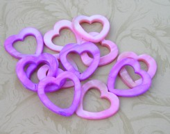 Mother of Pearl Pink and Purple Heart (12 pc) Special