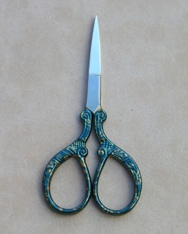 scissors christmas greenish blue.JPG