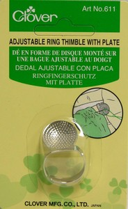 Clover Adjustable Thimble with Metal Plate 611CV