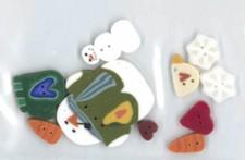 JABC 8778 SB Scatter Snowflake Button Pack