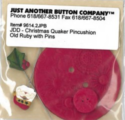 Just Another Button 2753  Old Ruby Button/Pin Pack
