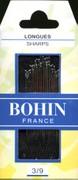 Bohin 0268 Sharps Needles Assorted Sizes 3/9 (20 needles)