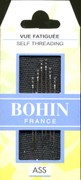 Bohin 01099 Bohin Self / Easy Threading Needles Assorted Size 3/8 (6 needles)