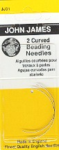 John James  31 Size 10 Curved Beading Needles (2)