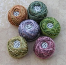 Rosewood M Flowers of Rosehall Valdani Silk Ball Thread pack