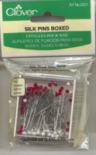 Clover 2501CV Silk Glasshead Pin Size 30 1 1/4 in (100)