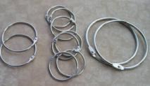 12 Various Sizes Nickel Rings