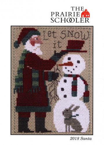 PRAIRIE-SCHOOLER-SANTA-2018-Cross-Stitch-Pattern
