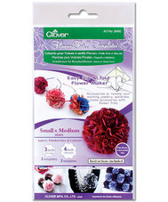 Clover Flower Frill  3 inch and 4 inch Template 8460CV