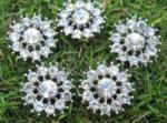 Crystal Rhinestone 26mm CR 42 With Shank (1 piece)