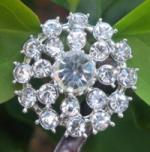 Crystal Rhinestone 30 mm CR 67 With Shank  (1 piece)
