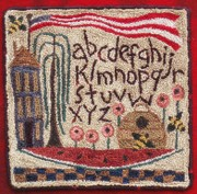 punch needle a bee C sampler.jpg