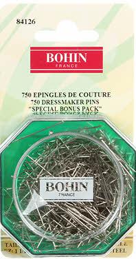 Bohin 84126 Dressmaker Steel Pin Bonus Pack Size 17 - 1 1/16in 750ct