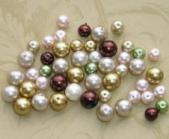 100 6mm and 8mm Glass Pearl Mixed