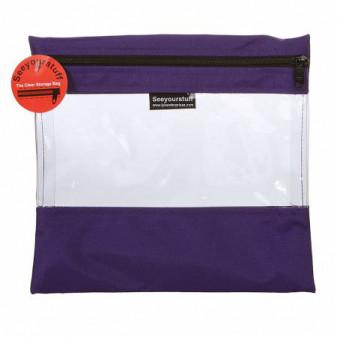 Well Made  10in x 11in Purple  Zipper Bag