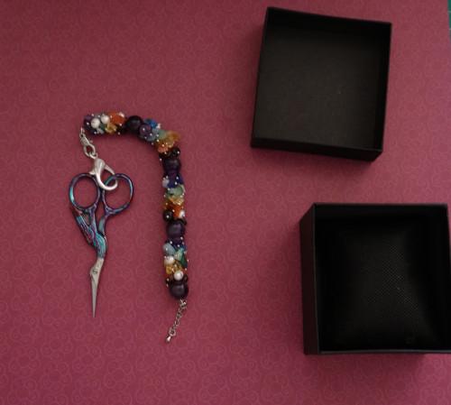 Rocky Chain Cyrstal Bracelet Fob 1